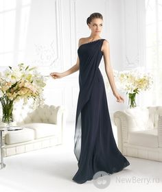 2014 Best Seller A-Line Floor-Length Beaded With One Shoulder Black Chiffon Long Bridesmaid Dress,Long Chiffon Prom Dresses Prom Dress 2013, Prom Party Dresses, Mob Dresses, Nice Dresses, Formal Dresses, Stylish Dresses, Fashion Dresses, Vestidos Mob, Mother Of Groom Dresses