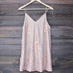 shine bright like a diamond mini dress - embellished rose gold