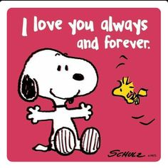 I love you always and forever. Snoopy and Woodstock
