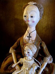 Tysdollcreations a one of a kind Queen Anne doll. Handcrafted.