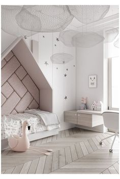 Decor Guide: Kids Room Ideas That Are Nothing but Stylish #modern #kids #room #modernkidsroom We've gathered decorating ideas that will help you create a magical environment for kids and leave them with heartwarming memories for the rest of their lives. Small Room Bedroom, Trendy Bedroom, Room Decor Bedroom, Modern Bedroom, Girls Bedroom, Bedroom Ideas, Bedroom Lighting, Master Bedroom, Bedroom Lamps