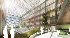 Atrium. Image Courtesy of Ennead Architects