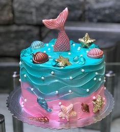 52 Mermaid Cakes Ideas You Are Sure to Love,mermaid cake ideas sheet cake,mermaid cake party ideas,mermaid cake template Mermaid Cupcake Cake, Little Mermaid Cakes, Mermaid Birthday Cakes, Little Mermaid Birthday, Little Mermaid Parties, Cupcake Cakes, Cupcake Art, Sirenita Cake, Barbie Birthday