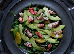 Lobster Salad with Fennel and Avocado from A Thought For Food
