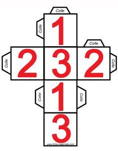 Fabriquer son dés à jouer Dice Template, Templates, Patron Cube, Funny Numbers, Constellations, Sensory Play, 5th Grades, Jouer, Art Lessons