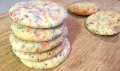 Funfetti cake mix cookies