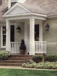 front porch awning small front porches adding a porch best 25 portico entry idea Portico Entry, Porch Steps, House Front, Porch Awning, Small Front Porches Designs, Porch Roof, Front Porch Remodel, Front Door Porch, Front Porch Design