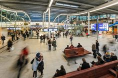 Image 5 of 17 from gallery of Utrecht Central Station / Benthem Crouwel Architects. Photograph by Jannes Linders Central Station, Bus Station, Utrecht, Vertical City, Roof Covering, Architecture, Gallery, Dutch, Transportation