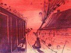 John Kørner • Untitled • 2012 • soft ground etching, line etching, spit bite aquatint, drypoint • Somerset 300 gr. • 29,8 x 39,5/39,4 x 47,5 cm • Edition of 24
