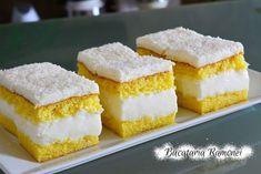 Prajitura alba cu crema de lapte I Want To Eat, Food Cakes, Savoury Cake, Vanilla Cake, Cake Recipes, Cheesecake, Deserts, Food And Drink, Cooking Recipes