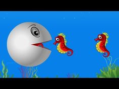 Learn Colors with Seahorse Pacman, Kids Children Toddlers Baby Preschool...