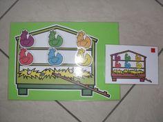 Kippenhok vullen met opdrachtkaarten
