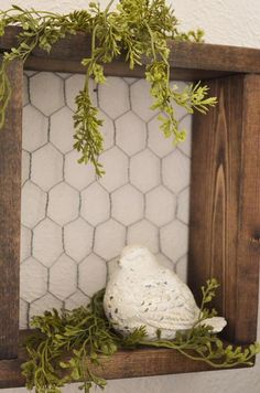 SET Shadowbox Chicken Wire Shelf Farmhouse Decor Shelf with Chicken Wire Wood Shelf Rustic Decor Shadowbox Farmhouse Shelf Fall Decor Farmhouse Decor Chicken Decor Fall Farmhouse Rustic Set Shadowbox Shelf Wire Wood Wire Shelving, Wooden Shelves, Wood Shelf, Arte Pallet, Chicken Wire Crafts, Chicken Wire Frame, Porch Decorating, Decorating Ideas, Rustic Farmhouse