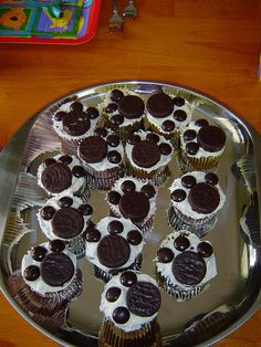 Birthday cake and cupcakes by OurDorseyFamily, via Flickr