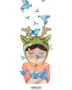 Imagine - illustration by Amparo Cortes