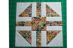 "Paths and Stiles is an easy patchwork quilt block pattern that finishes at 9"" square and offers lots of opportunities for customization."