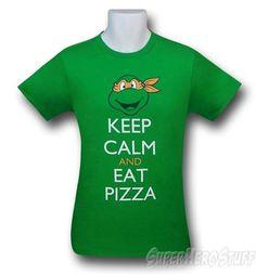 5e63369b1 Images of TMNT Keep Calm Pizza 30 Single T-Shirt Ninja Turtle Birthday,  Ninja