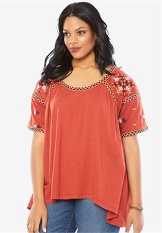 Women's Plus Size & Men's Big & Tall Clothing Marketplace Plus Size Tees, Beauty Full, Wardrobes, Plus Size Women, Tunic Tops, Fashion Outfits, Clothes For Women, My Style, Sleeves