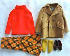 "Barbie/Ken doll Vintage mod era 1970 ""Play It Cool #1433"" ensemble Complete EUC"