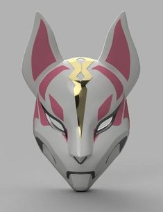 Drift Mask from Fortnite Please Read : This is just the STL files to be able to . Mascara Oni, Kitsune Maske, Loch Ness Monster, Cool Masks, Awesome Masks, White Gel Pen, Desenho Tattoo, 3d Drawings, 3d Models