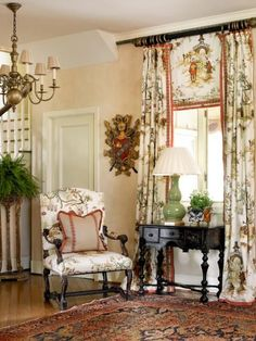 cottage decor Send me your fabric Pinch pleated lined drapes French image 0 English Country Decor, French Country Cottage, French Country Style, French Country Curtains, Country Valances, English Country Cottages, French Countryside, English Style, French Decor