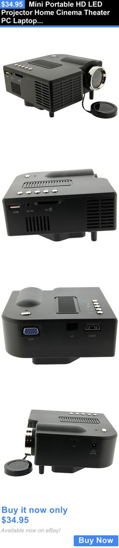 Home Audio: Mini Portable Hd Led Projector Home Cinema Theater Pc Laptop Vga Usb Sd Av Hdmi BUY IT NOW ONLY: $34.95