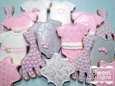 Giraffe themed Baby Shower Cookies
