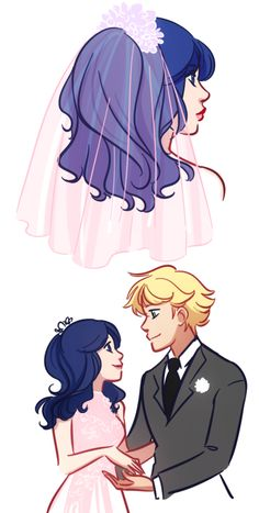 gabzilla-z:  more wedding doodles, for matchaball