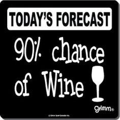 90% Chance of Wine