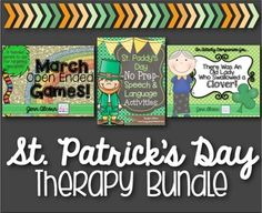 Save with this bundle that has everything you need for St. Patrick's Day themed speech therapy!