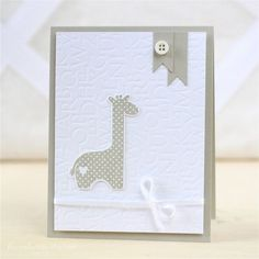 New baby cards handmade giraffe Ideas Baby Boy Cards, New Baby Cards, Baby Shower Cards, Handgemachtes Baby, Baby Kind, Baby Scrapbook, Scrapbook Cards, Kids Cards, Homemade Cards