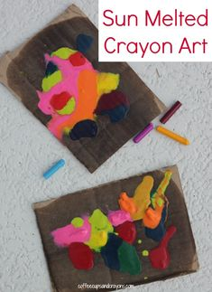 Sun Melted Crayon Art for Kids--so much fun!!!