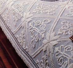 Vintage Crochet Pattern for Stunning Victorian Bedspread! (224)