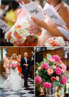 Modern London Wedding in Pink, Black and White photographed by Segerius Bruce Photography. Fantasy Wedding, London Wedding, Church Wedding, Black And White, Pink Black, Wedding Ideas, Wedding Stuff, Wedding Flowers, Table Decorations