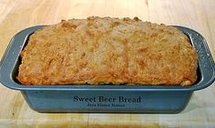 Sweet Beer Bread - A great tasting easy recipe and you can also make these in muffins for parties too! Lovefoodies