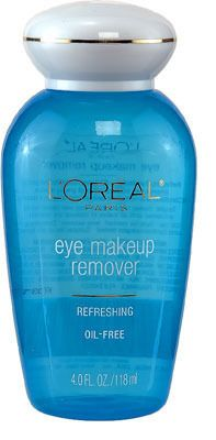 Loreal Eye Makeup Remover ... I usually buy the Walmart brand, works great!