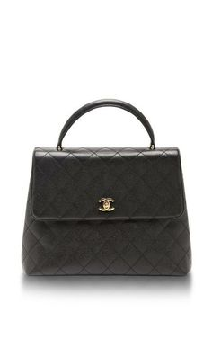 Vintage Chanel Black Caviar Kelly Bag by What Goes Around Comes Around for Preorder on Moda Operandi