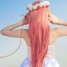 Mermaid pink pastel hair