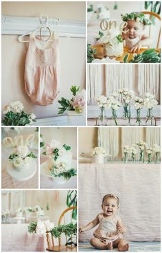 whimsical floral first birthday party, first birthday outfit, girl first birthday party, floral first birthday, boho birthday party, diy first birthday party