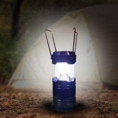 LED Solar Campinglampe. Lädt sich selbst auf. Gut für Camping, Gartenparty und bei Stromausfall.
