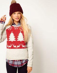 ASOS Sweatshirt with Christmas Fairisle Print  -- fall and winter sessions