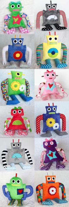 Custom Made Robot Toy Plushie