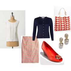 """""""pencil skirt"""" by lindadom on Polyvore"""
