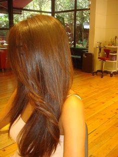 nice hair colour created with wella illumina 5/43 20 highlights 7/7 20 volume