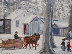 Amish Artist Emma Schrock Oil on canvas Moyers by TheIDconnection, $2000.00