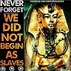 African History...Black History Month is every month. Take back your dignity by uncovering who you are.