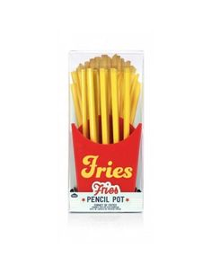 Fries Pen Pot is the next best thing to fast food. While you can't eat the yellow pencils that stick out of the red pencil holder, you'll at least smile every time you look at it!