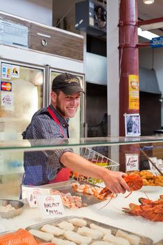 Fresh lobster and other tasty seafood can be found at the City Market in Saint John, where die-hard foodies can shop to their heart's content.