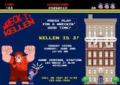 Wreck it Ralph Birthday Invite 8 bit video game by ckfireboots, $10.00
