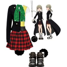 Maka Albarn Casual Cosplay by psychometorzi on Polyvore featuring Jane Norman, American Vintage, Forever New, Forever 21 and Yves Saint Laurent